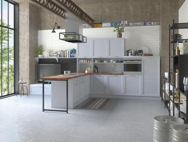 Классическая серая кухня Амальфи
