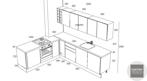 Кухонный гарнитур Milka